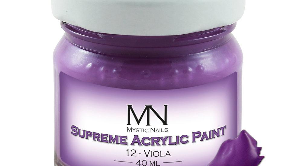Supreme Acrylic Paint-12-Viola-  40ml