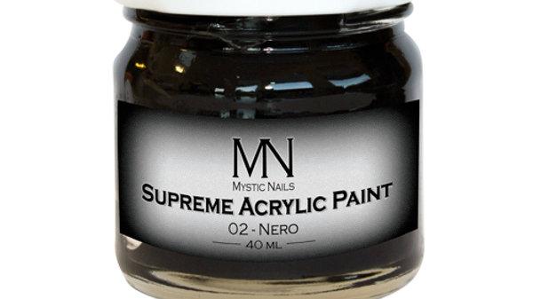 Supreme Acrylic Paint-02-Nero 40ml
