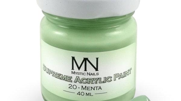 Supreme Acrylic Paint-20-Menta-  40ml