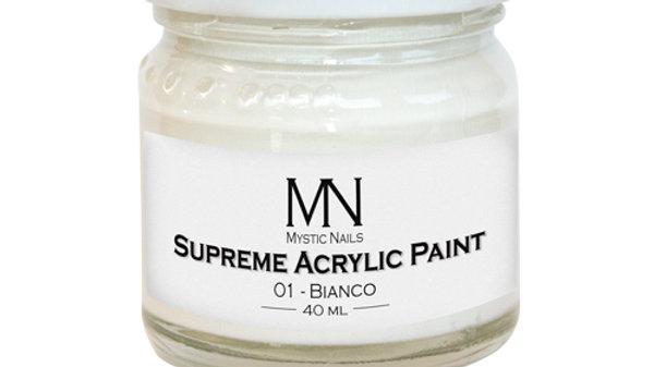 Supreme Acrylic Paint-01-Supreme Bianco 40ml