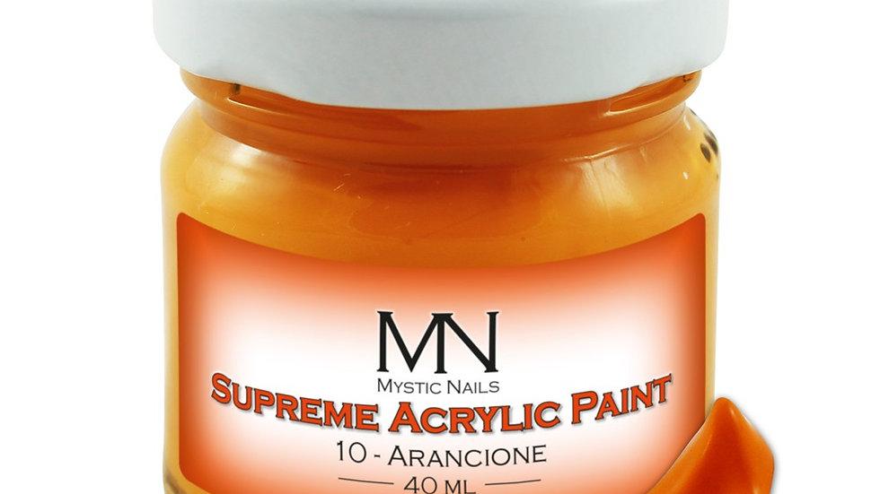Supreme Acrylic Paint-10-Arancione-  40ml