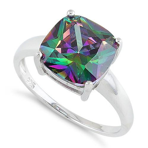 RV-05 SILVER RAINBOW TOPAZ RING