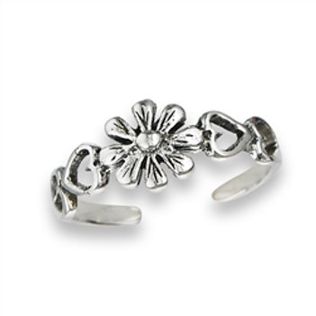 TRSV-07 FLOWER TOE RING