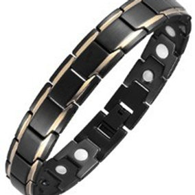 BTI-11 BLACK GOLD PLATED TITANIUM BRACELET