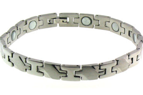 BSS-06 CROSS LINK STAINLESS STEEL BRACELET