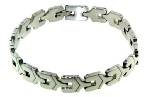 BSS-14 POLISHED STAINLESS STEEL BRACELET