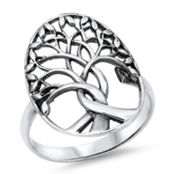 RV-04 SILVER TREE OF LIFE RING