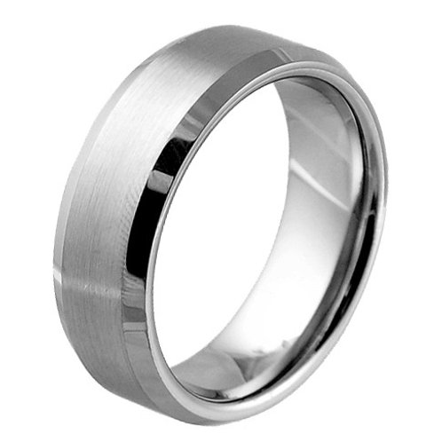 RT-04 SATIN FINISHED CENTER TUNGSTEN RING