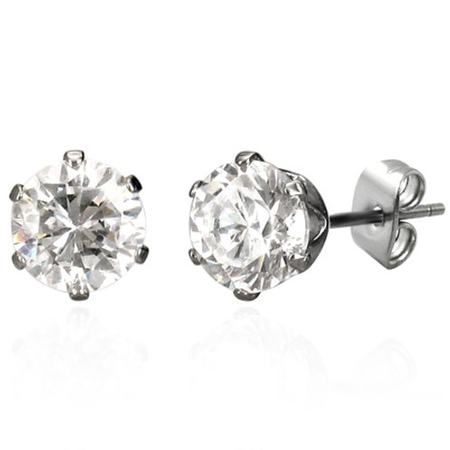 E01 CUBIC ZIRCONIA STUD EARRINGS