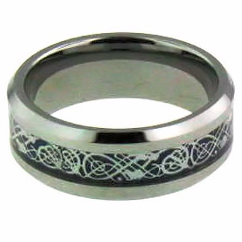 RT-01 TUNGSTEN BLUE COMFORT FIT BAND RING