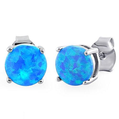 E-06 BLUE OPAL EARRINGS