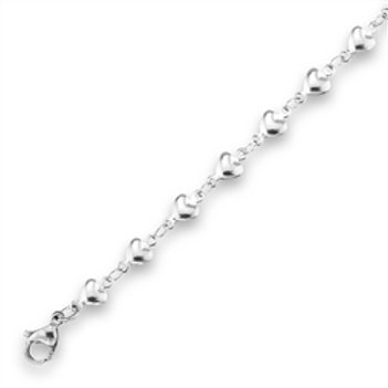 A-09 INLINE HEART ANKLET
