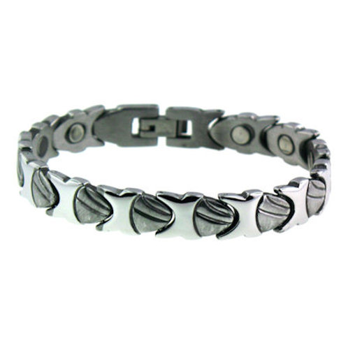 BSS-10 SHELLS STAINLESS STEEL BRACELET