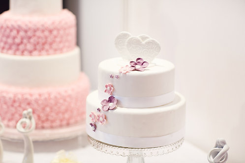 Fondant Cake with Ruffles and Flower
