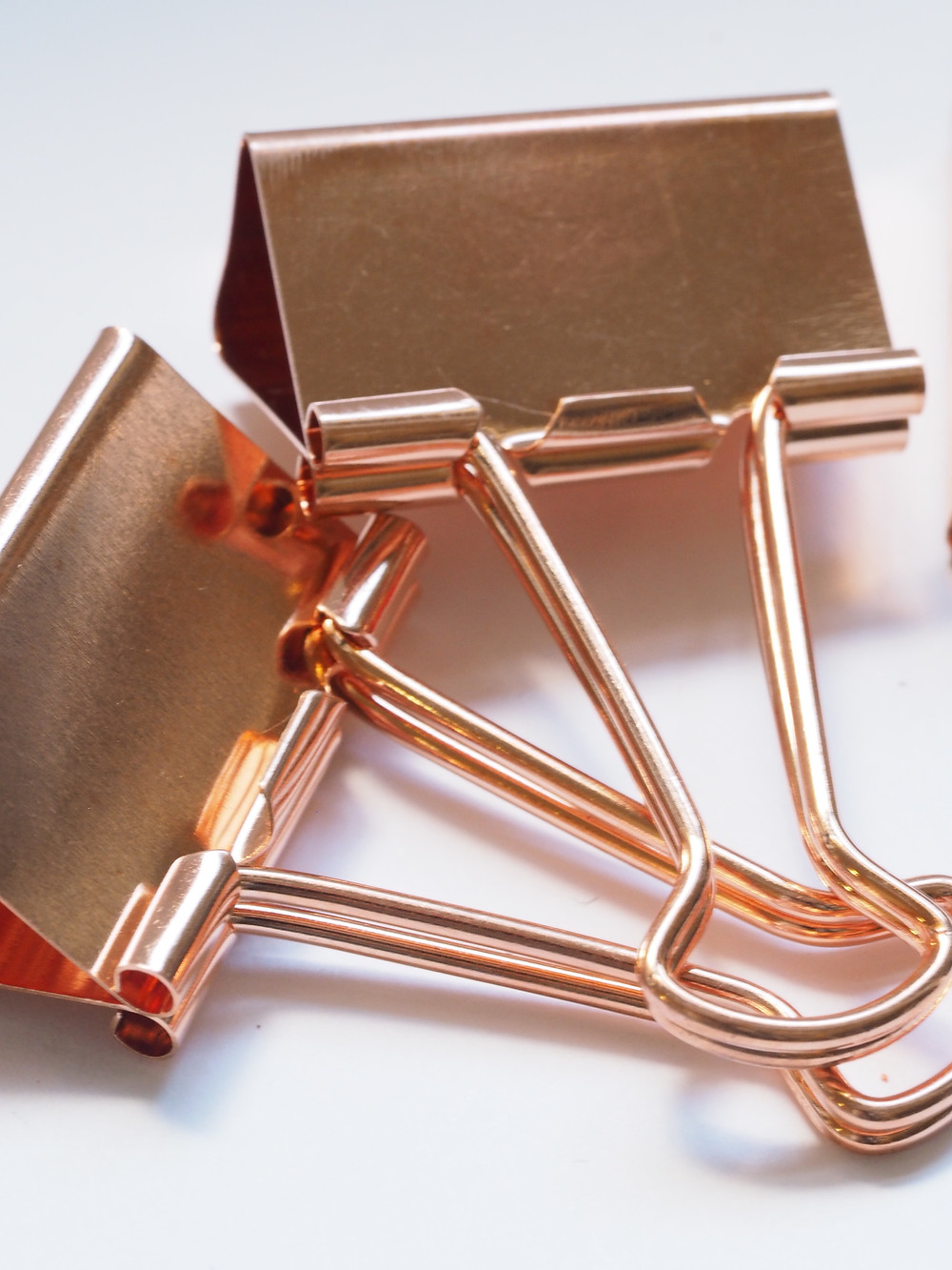 pvd coating rose gold paper clip