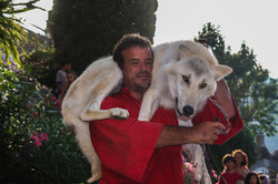 Jean Philippe Roman et son loup