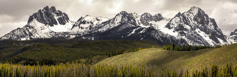 Sawtooth Mountains - Panorama