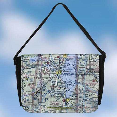 Custom U.S. Aeronautical Chart Medium Shoulder Bag