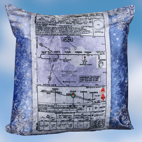 North Pole Approach Plate Pillow Cover