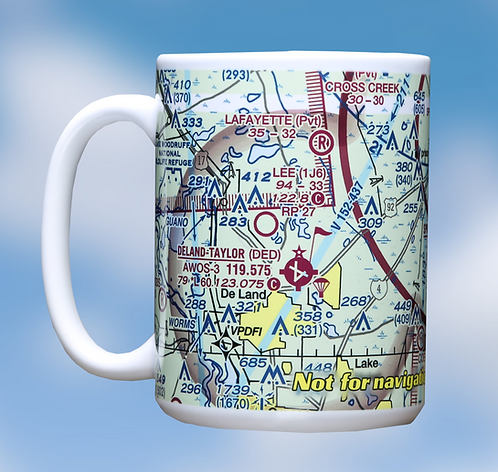 Custom U.S. Aeronautical Chart 15oz Ceramic Mug