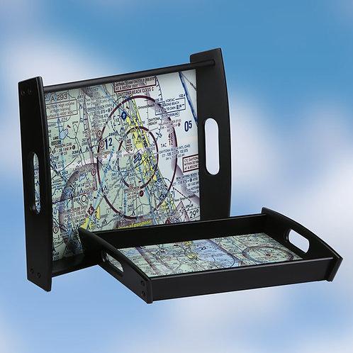 Custom U.S. Aeronautical Chart Serving Tray