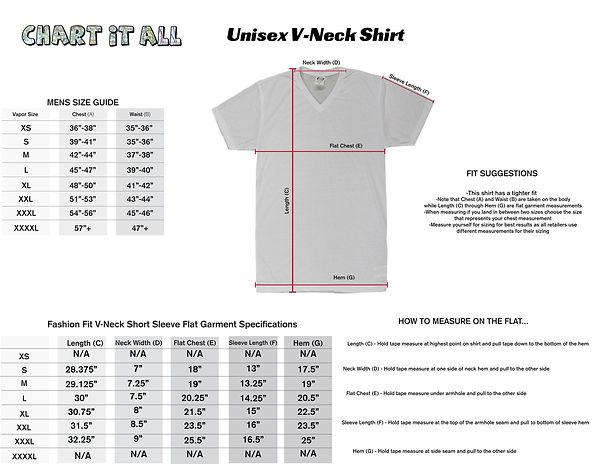 Unisex V neck Shirt size chart.jpg