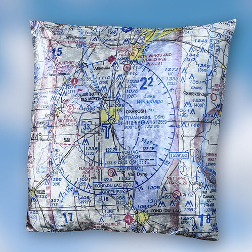 Custom U.S. Aeronautical Chart Pillow
