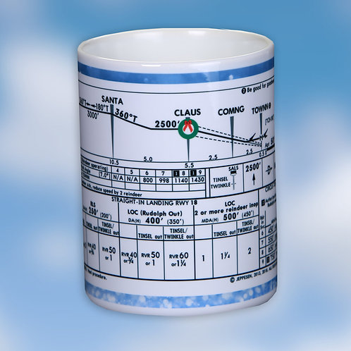 North Pole Approach Plate Profile View mug