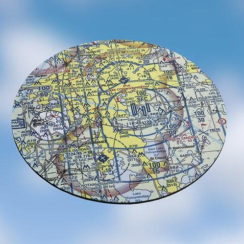 "Custom U.S. Aeronautical Chart 8"" Round Mouse Pad"