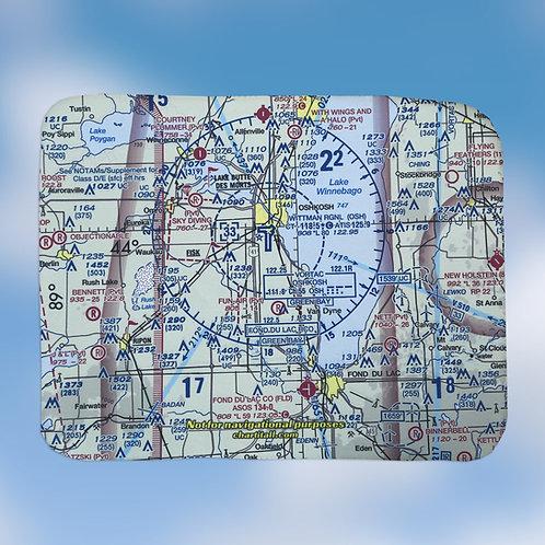 Custom US Aeronautical Chart Laptop Sleeve