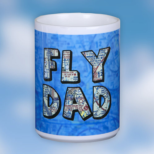 Fly Dad Custom U.S. Aeronautical Chart 15oz Ceramic Mug