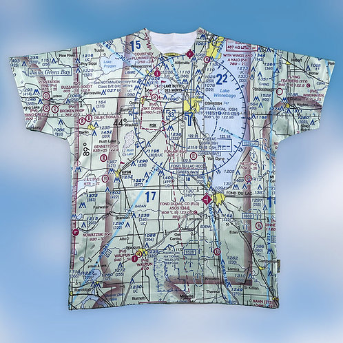 Custom U.S. Aeronautical Chart Shirt