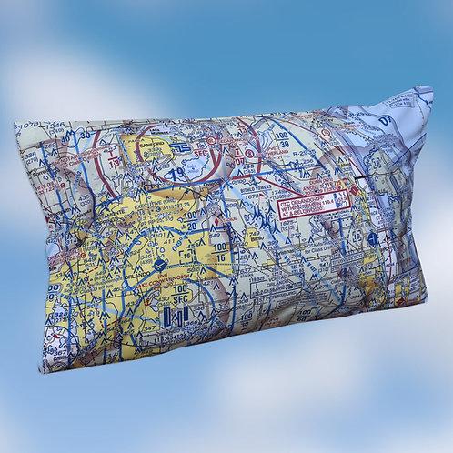 Custom U.S. Aeronautical Chart Bed Pillow Cover