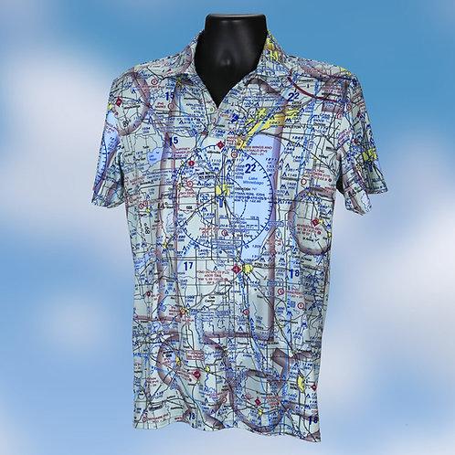 Custom U.S. Aeronautical Chart Polo Shirt