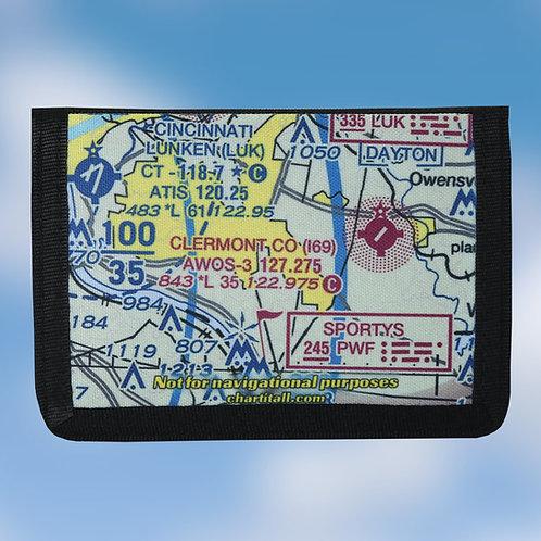 Custom U.S. Aeronautical Chart Tri-Fold Wallet
