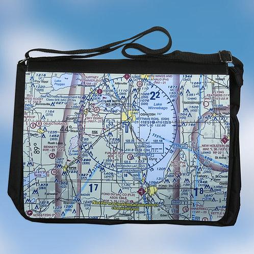 Custom U.S. Aeronautical Chart Large Shoulder Bag