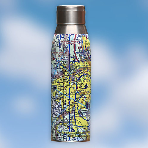 Custom U.S. Aeronautical Chart Water Bottle