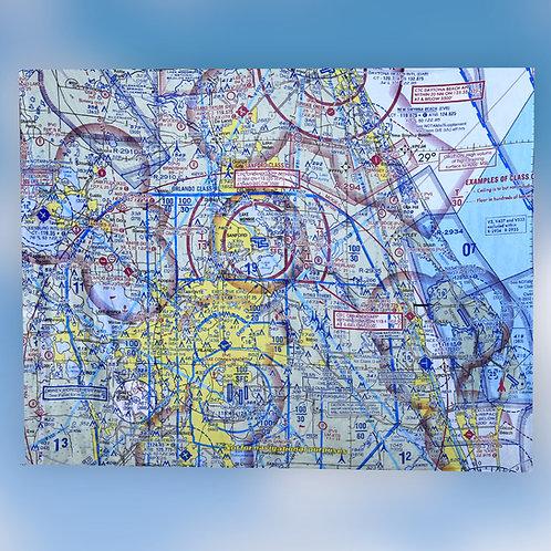 Custom U.S. Aeronautical Chart Blanket