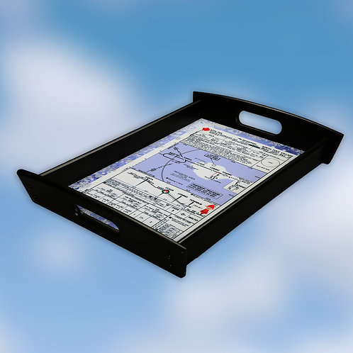 North Pole Approach Plate Serving Tray