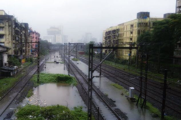 Water logging on tracks