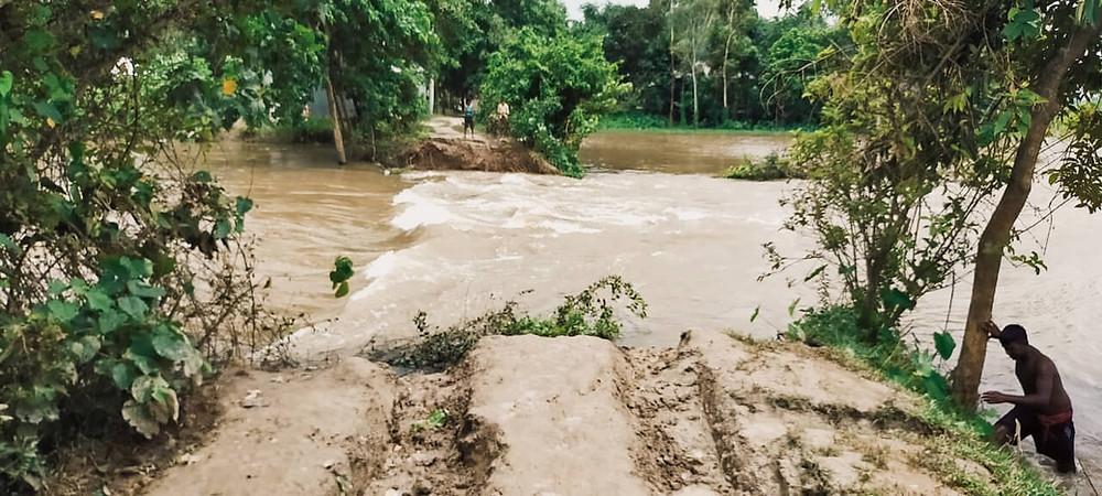 Dam of Tangan river collapsed