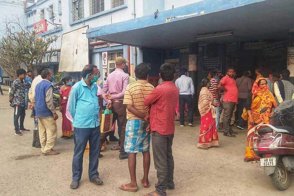 BJP workers shot TMC demand for land dispute