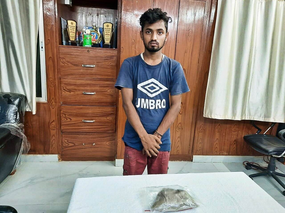 Arrested youth with brown sugar