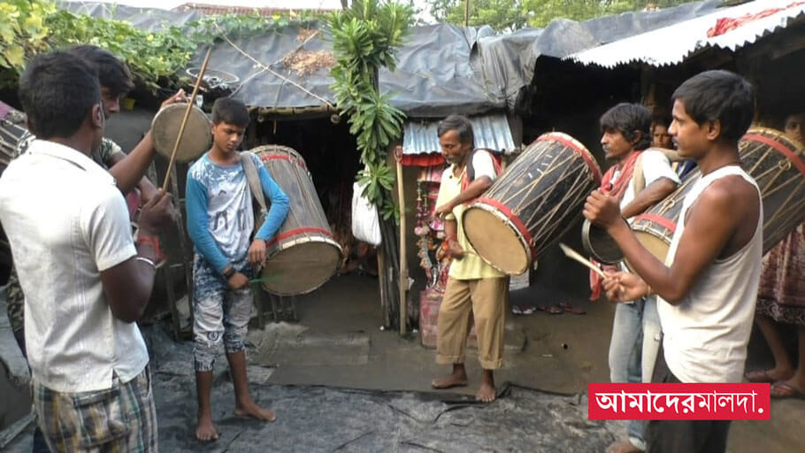 Drummers are afraid of not getting a puja call