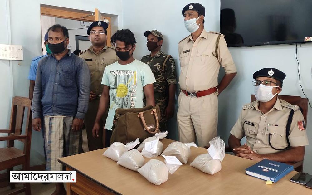 Brown sugar worth around 3 crore seized in Malda