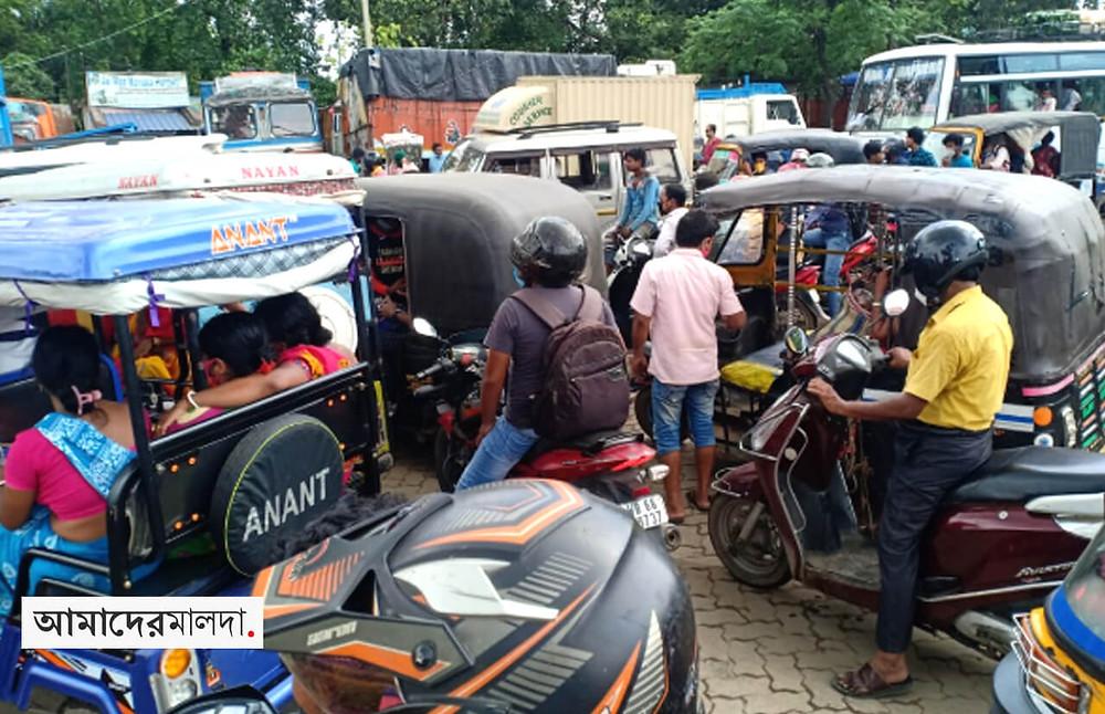 Highway blockade demanding drainage of accumulated water
