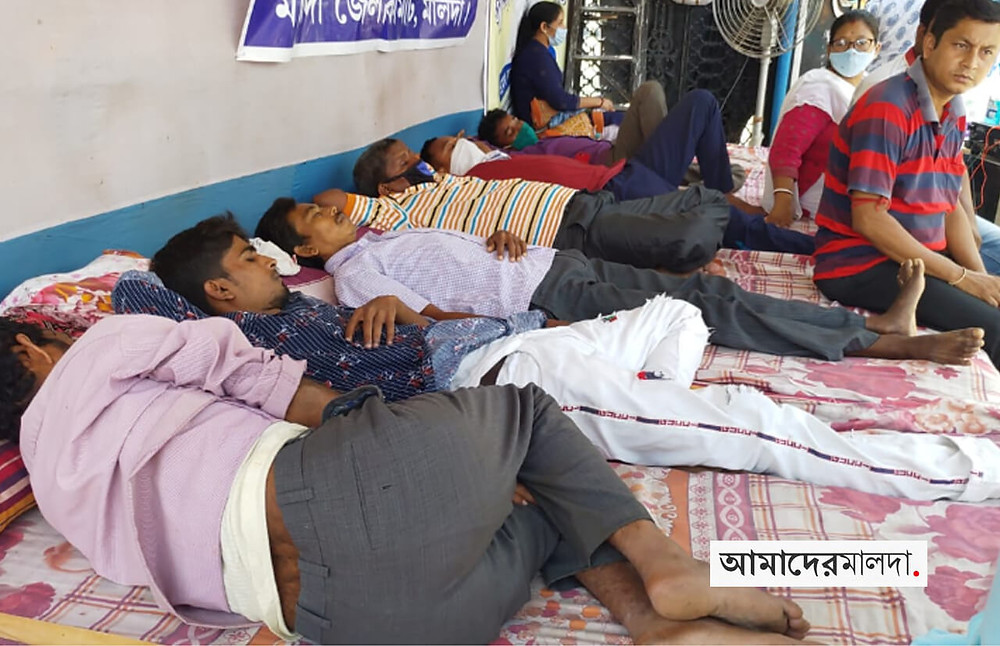 College Temporary workers stage hunger strike in malda