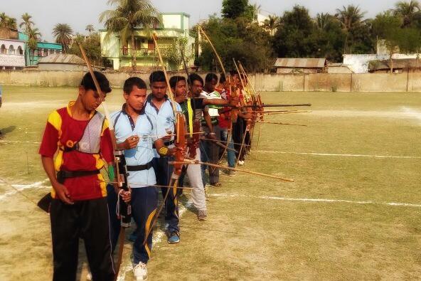 গাজোলে তিরন্দাজি প্রতিযোগিতা
