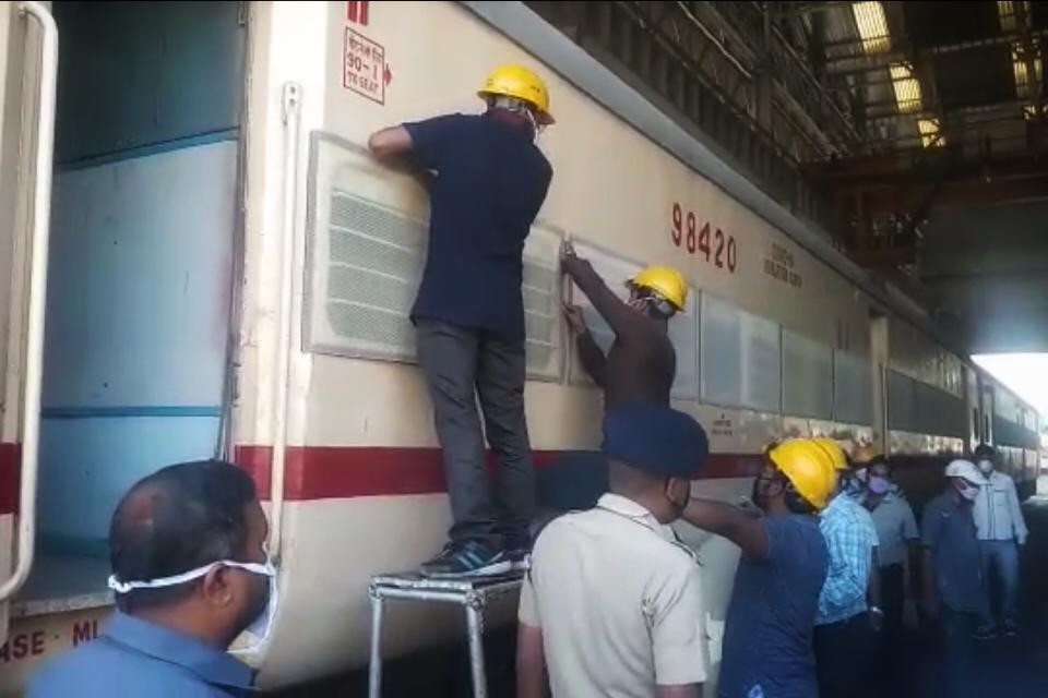 eight-bed isolation coach is being built in Malda