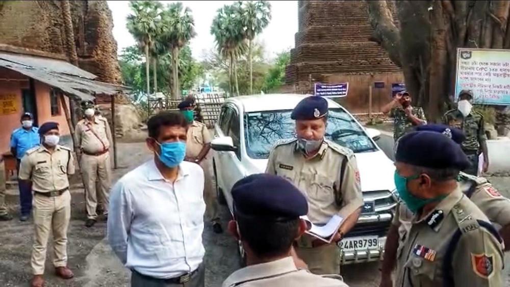 police-dg-visits-indo-bangla-border-areas-in-malda